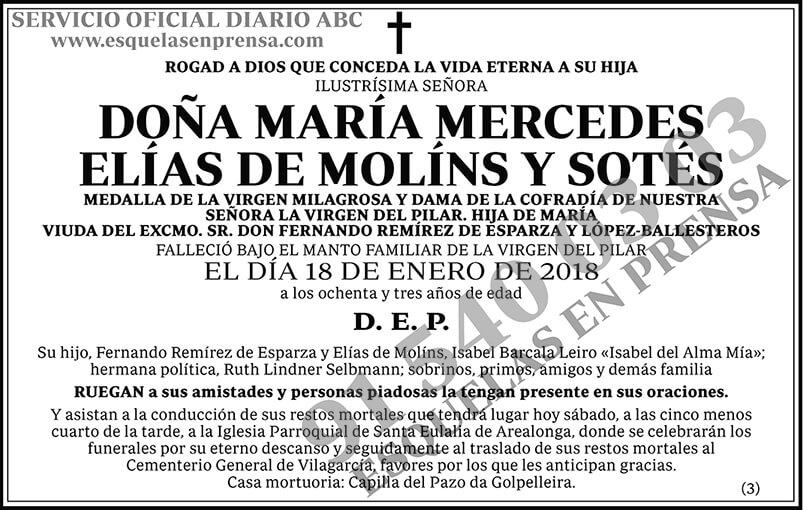 María Mercedes Elías de Molíns y Sotés